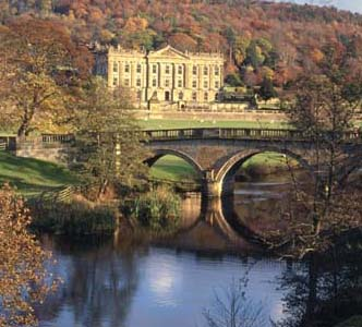 Chatsworth House is walking distance from Tick Tock Cottage