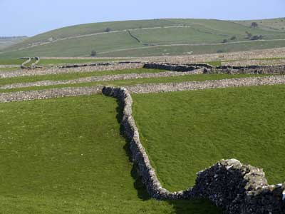 Limestone walls are a feature of the Peak District