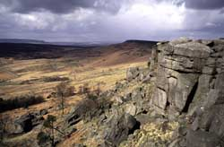 Peak District gritstone edge - Stanage